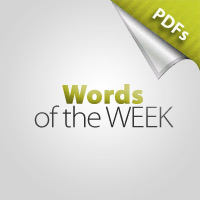 Words of the Week: OCTOBER - Criticism